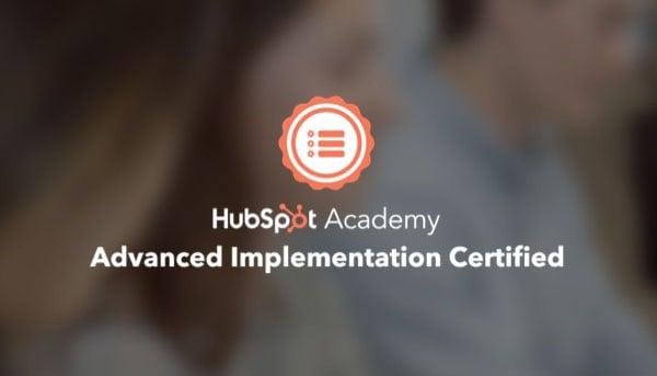 hubspot advanced implementation certification