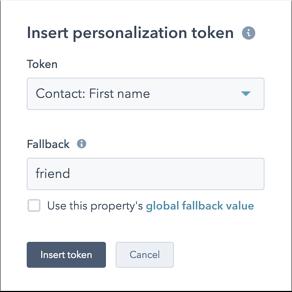insert personalisation token